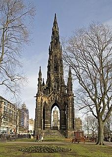 Scott Monument Victorian Gothic monument to Scottish author Sir Walter Scott