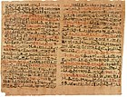 The Edwin Smith surgical papyrus describes anatomy and medical treatments and is written in hieratic.