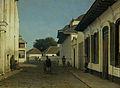 Een straat in het oude deel van Batavia Rijksmuseum SK-A-2830.jpeg