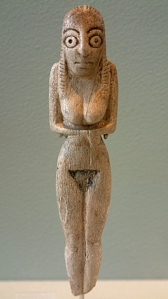 El Badari, Egypt - Ancient Badarian mortuary figurine.