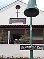 El Camino Real bell, Mission San Buenaventura.JPG