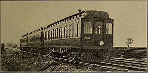 West Shore Railroad - A West Shore Railroad three-car train used third-rail electric power between Syracuse and Utica, N. Y., ca. 1911