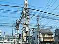 Electric wires of Tram 1, Arakawa Line.jpg