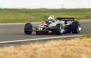 Elio de Angelis - De Angelis driving for Lotus at the 1981 British Grand Prix.