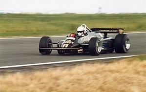 Elio de Angelis - De Angelis driving for Lotus at the 1981 British Grand Prix.