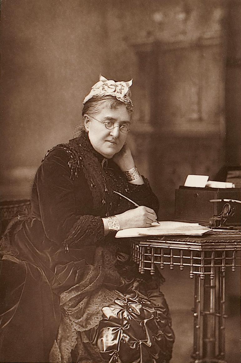 Portrait of Eliza Lynn Linton, by W. & D. Downey, 1890