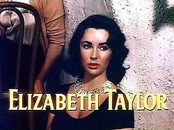 Elizabeth Taylor no trailer do filme A Última Vez que Vi Paris , de 1954.