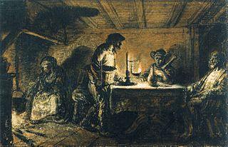 Jupiter i Merkury u Filemona i Baucis