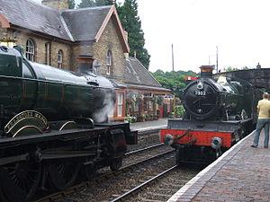 GWR 7800 Class 7812 Erlestoke Manor - Erlestoke Manor with classmate Bradley Manor