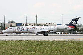 Aeroméxico Connect - An Aeroméxico Connect Embraer ERJ145 taxiing at Miami International Airport