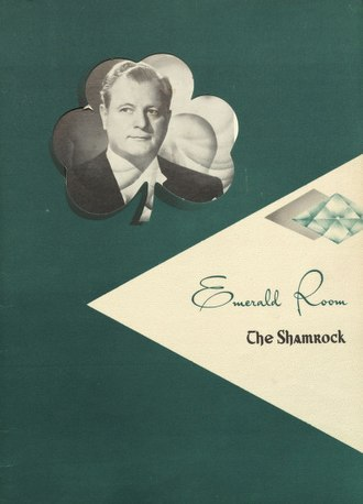Gene Austin - Image: Emerald Room menu 1952 04 25