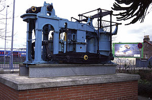 Scottish Maritime Museum -  Early side-lever engine designed by Robert Napier, from PS Leven (1823), on display at Dumbarton