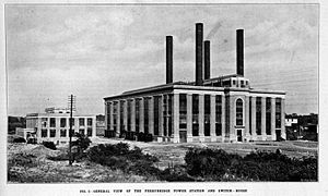 Ferrybridge power stations - Ferrybridge main building and switchgear house (c.1927)