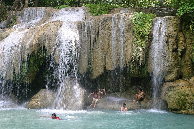 Beautiful waterfall in thailand s erawan waterfalls national park - The Exotic Travel Destination In The World Top Place
