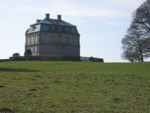 View from south east of Eremitage castle