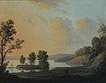 Erik Pauelsen - View of the Manor of Dronninggaard across Lake Fure, North Zealand. - KMSsp882 - Statens Museum for Kunst.jpg