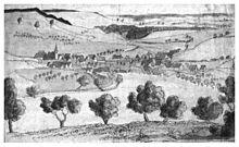 Ernst Hellwag: Zeichnung von Gültlingen (1809) (Quelle: Wikimedia)