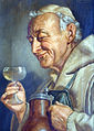 Ernst Stierhof (1888) German Monk drinking wine.jpg