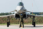 Eurofighter EF-2000 Typhoon S MM7286 - 36-02 (cn IS018) stopping at parking (21903951539).jpg