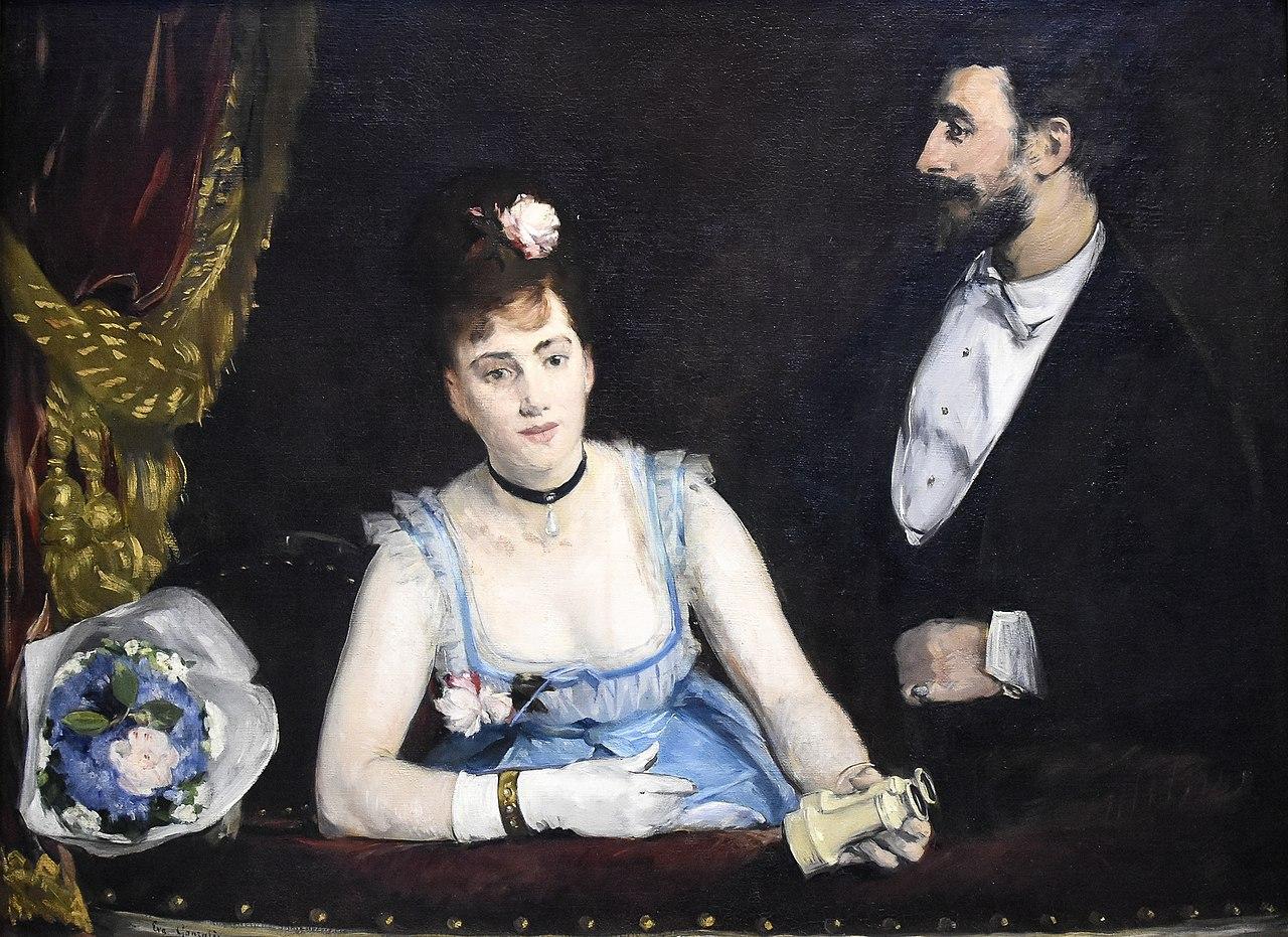 Ева Гонсалес (1849-1883) Een loge in het Theatre des Italiens (1874) Musée d'Orsay 22-8-2017 17-29-43.JPG