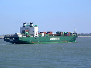 Ever Deluxe p10 approaching Port of Rotterdam, Holland 04-Aug-2007.jpg