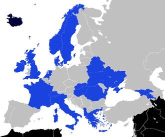 Knattspyrnufélag Reykjavíkur - KR have played a European match against one or more teams from each one of the 21 countries shaded in blue on this map.