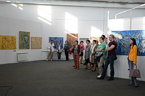 Exhibition TRANSCENSUM FortePROUN Palace of Art 30.04.2014 Minsk 13.JPG