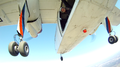 Exit from the Britten-Norman Islander BN-2A-26 (ES-PNA) aircraft in a parachuting exercise in Estonia (5675975348).png