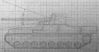 Type 4 Chi-To medium tank - Drawing of Ka-To 105 mm SP AT Gun