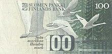 100 markkaa obverse