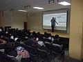FLISOL 2014 en la Prepa 55 Chicoloapan, Estado de México, México, conferencia sobre wikimedia 1.JPG