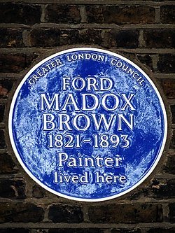 Ford madox brown 1821 1893 painter lived here