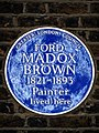 FORD MADOX BROWN 1821-1893 Painter lived here.jpg