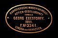 Fabrikschild der Lokomotive Hoya No 3341 der Hannoverschen Maschinenbau Actien-Gesellschaft 1899.jpg