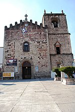 Facade of the San Jose Parish in Ciudad Hidalgo, Michoacan