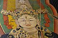 Face detail of Thousand-armed Avelokitesvara painting in the chapel housing the burial chorten of the 10th Panchen Lama, Tashilhunpo Monastery, Shigatse, Tibet (2).jpg