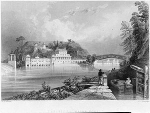 Fairmount Water Works - Image: Fairmount Waterworks 1835 (cropped)