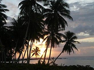 Falealupo - Falealupo sunset