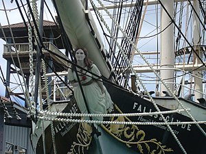 Falls of Clyde (ship) - Falls of Clyde (detail of the prow)