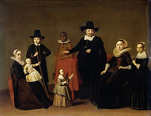 Family group with a black man