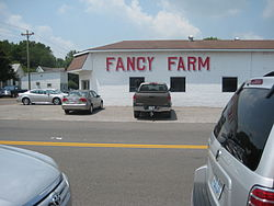 Street scene in Fancy Farm