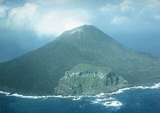uninhabited volcanic island