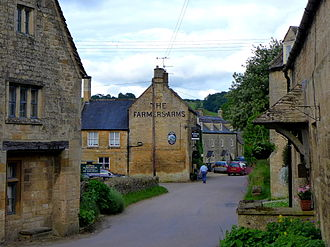 Guiting Power - The Farmer's Arms, a pub in Guiting Power; the other pub is the Hollow Bottom.