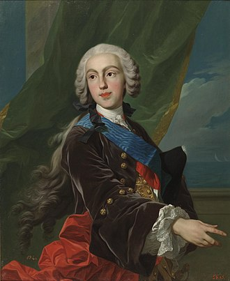 Philip, Duke of Parma - Portrait by Louis-Michel van Loo, ca. 1739, Prado museum