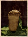 Female Nude with Green Shawl Seen from Behind - Käthe Kollwitz.png