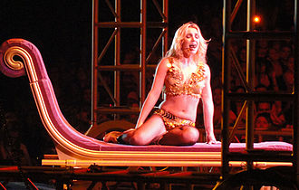 """Femme Fatale (Britney Spears album) - Spears performing """"He About to Lose Me"""" during the Femme Fatale Tour, 2011."""
