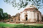 i. The tomb of Ferozshah ii (Firuz Shah Tughlaq). Domed Building to the west of No.1 iii. Dalan between 1&2 iv. Domed Building & its court to the south of No. 3, v. Dalans and all ruined Buildings to the north of no. 1 and existing upto No.10 vi. Five Chhatris to the case of No. 1& No.5 vii. Old Gate to the north of No.6 viii. Three Chhatris to the north-west of No.7 ix. Ruined courtyard and its Dalans with the Domed building to the north-west to the No.8 x. Old wall running east from No.4 xi. 2.23 Acres of land surrounding the above monuments and bounded on the North by house of Chhange and Mehra Chand sons of Hansram and house of Uderam, son of Kusha South Ghairmunkan Resta East  By village site belonging to village community house of  Nots Zadar sons of Jai Singh Chhamar and field Nos. 338 & 331 belonging to Naider and others West By field no. 185 belonging to Udaram, son of Kusal Jat and field No. 186 belonging to Jagins and Sajawal Rajput, No. 195 Ghairmunkin Johar, common of Jats and Musalmans and filed no. 196, Ghairmunkin Pall.