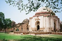 Feroze Sha's tomb with adjoining Madrasa.JPG