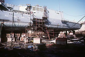 In 1988, an Iranian M-08 mine put a 25-foot (8m) hole in the hull of the USSSamuel B. Roberts(FFG-58), forcing the ship to seek temporary repairs in a dry dock in Dubai, UAE.