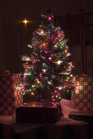 Artificial Christmas tree - An artificial fiber optic Christmas tree